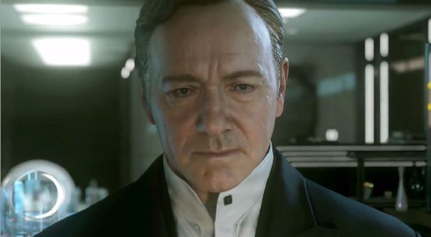 Kevin Spacey in Call of Duty: Advanced Warfare trailer