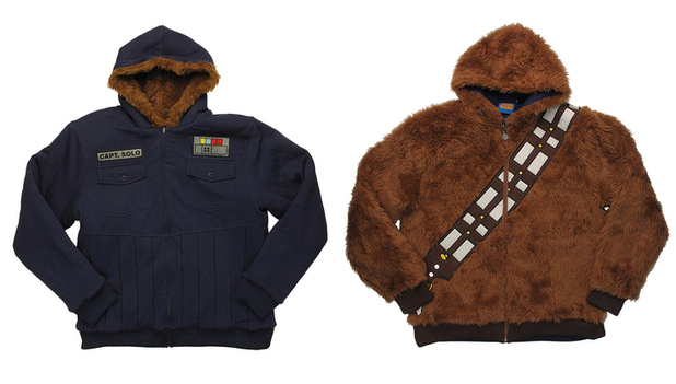 Star Wars Han Solo and Chewbacca reversible hoodie