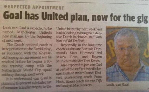 Harold Bishop is new Man United manager?