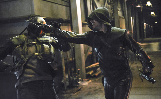 Stephen Amell as The Arrow in Arrow S02E21: 'City of Blood'