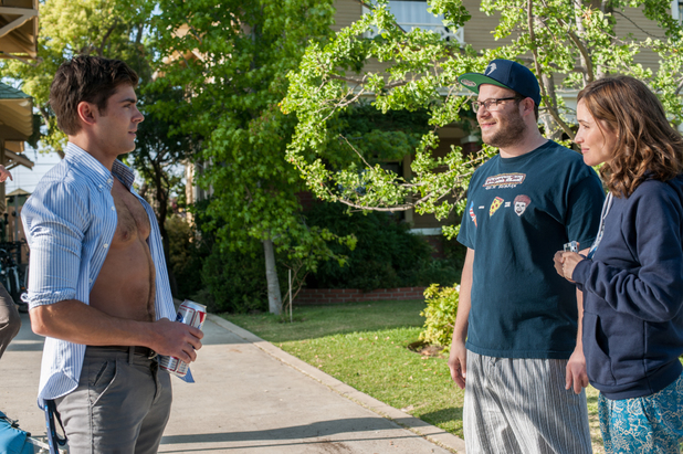 Seth Rogen, Rose Byrne, Zac Efron in Bad Neighbours