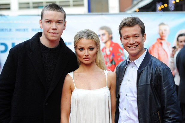 LONDON, ENGLAND - APRIL 29: (L-R) Will Poulter, Emma Rigby and Ed Speleers attend the UK premiere of 'Plastic' on April 29, 2014 in London, England. (Photo by Dave J Hogan/Getty Images)