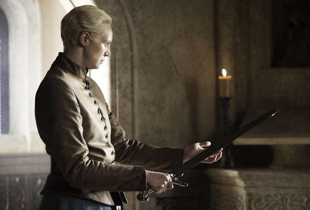 Gwendoline Christie as Brienne of Tarth in Game of Thrones S04E04: 'Oathkeeper'
