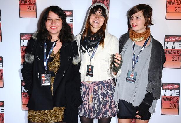 Stella Mozgawa, Theresa Wayman and Emily Kokal of Warpaint