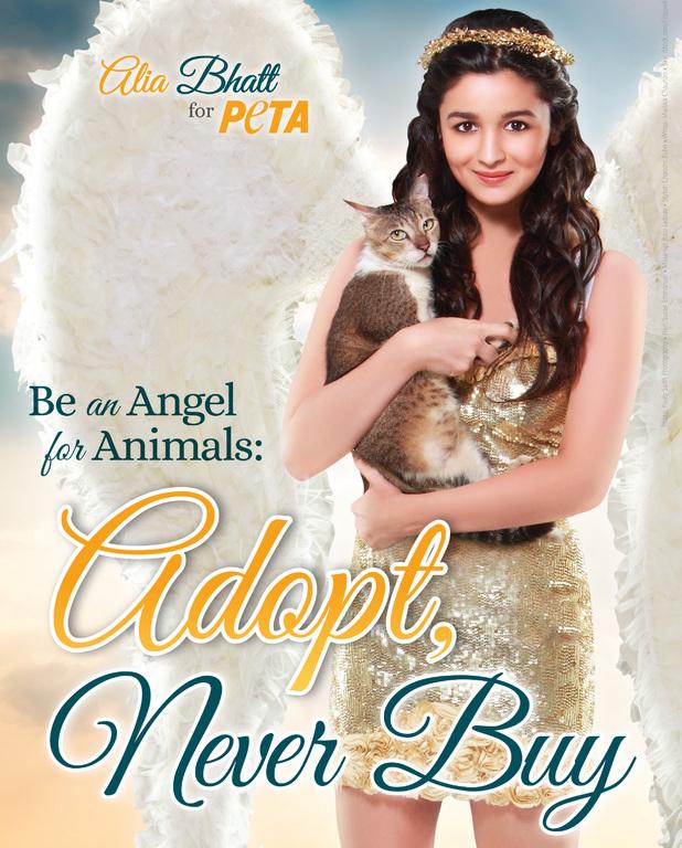 Alia Bhatt PETA advert poster