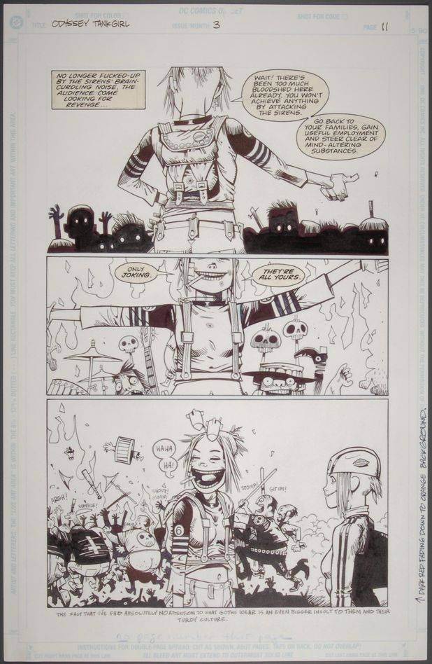 Original artwork for Tank Girl