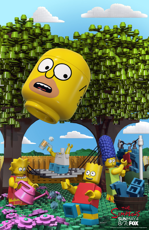 Official poster for Simpsons Lego episode