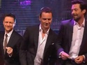 James McAvoy joins his castmates in a dance on The Graham Norton Show.