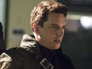 ohn Barrowman as Malcolm Merlyn/Dark Archer in Arrow S02E22: 'Streets of Fire'