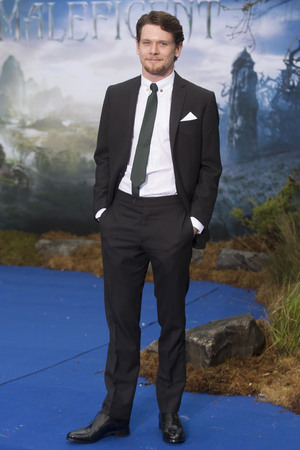 LONDON, UNITED KINGDOM - MAY 08: Jack O'Connell attends a private reception as costumes and props from Disney's 'Maleficent' are exhibited in support of Great Ormond Street Hospital at Kensington Palace on May 8, 2014 in London, England. (Photo by Julian Parker/UK Press via Getty Images)
