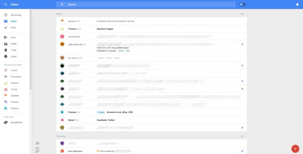 Test of redesigned Gmail