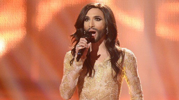 Conchita Wurst representing Austria performs during the Eurovision Song Contest 2014 Grand Final