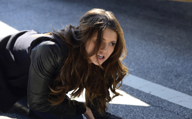 Nina Dobrev as Elena in The Vampire Diaries S05E21: 'Promised Land'