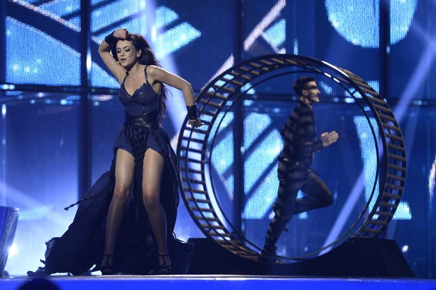 Maria Yaremchuk representing Ukraine performs during the Eurovision Song Contest 2014 Grand Final
