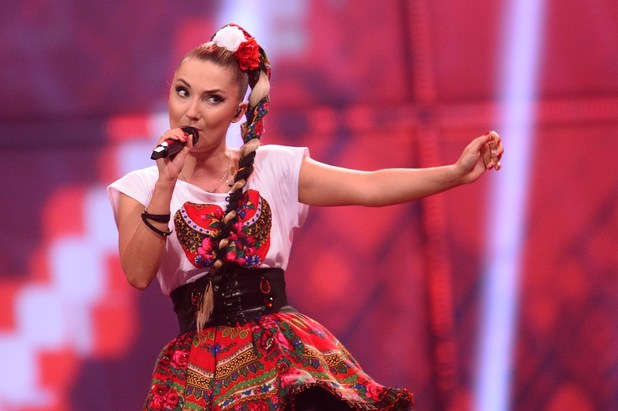 Cleo of Donatan & Cleo representing Poland performs during the Eurovision Song Contest 2014 Grand Final