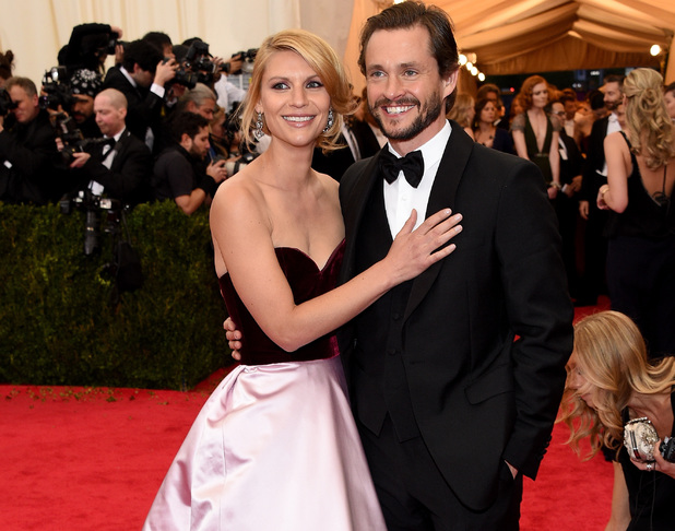 NEW YORK, NY - MAY 05: Claire Danes (L) and Hugh Dancy attend the 'Charles James: Beyond Fashion' Costume Institute Gala at the Metropolitan Museum of Art on May 5, 2014 in New York City. (Photo by Larry Busacca/Getty Images)