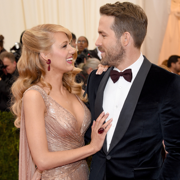 NEW YORK, NY - MAY 05: Actors Blake Lively (L) and Ryan Reynolds attend the 'Charles James: Beyond Fashion' Costume Institute Gala at the Metropolitan Museum of Art on May 5, 2014 in New York City. (Photo by Larry Busacca/Getty Images)