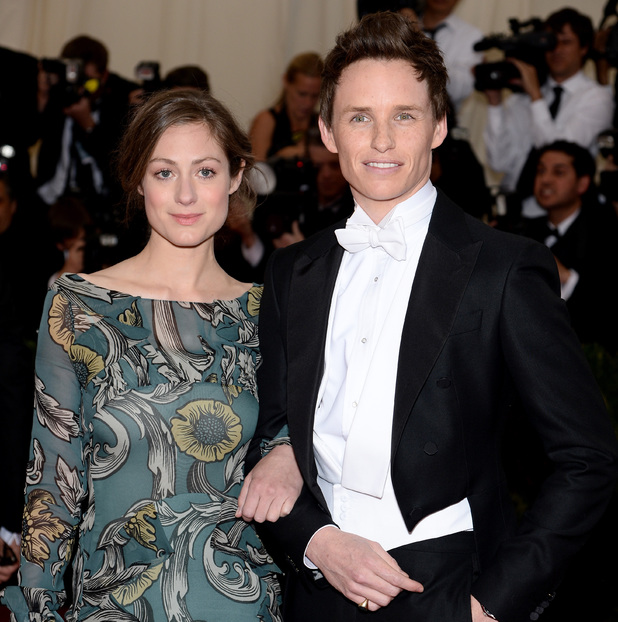 NEW YORK, NY - MAY 05: Eddie Redmayne (R) and Hannah Bagshawe attend the 'Charles James: Beyond Fashion' Costume Institute Gala at the Metropolitan Museum of Art on May 5, 2014 in New York City. (Photo by Dimitrios Kambouris/Getty Images)