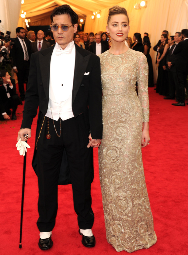 Previous Next Johnny Depp and Amber Heard attend the 2014 Met Ball    Johnny Depp Amber Heard 2014