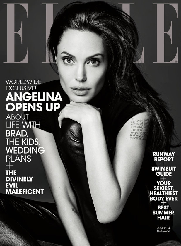 Angelina Jolie covers the June issue of Elle