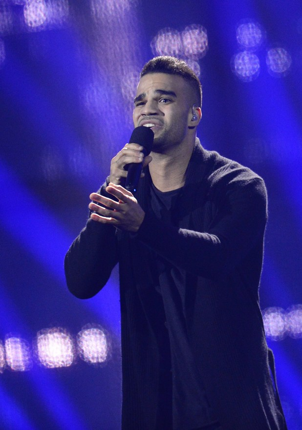 Andras Kallay-Saunders representing Hungary performs during the Eurovision Song Contest 2014 Grand Final