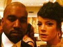 Kanye West and Lily Allen strike a Yeezus-Sheezus pose.
