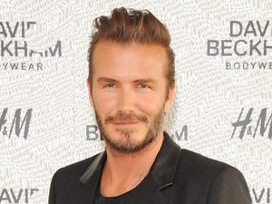 LONDON, ENGLAND - MAY 14: David Beckham attends the private launch of David Beckham For H&M Swimwear at Shoreditch House on May 14, 2014 in London, England. (Photo by David M. Benett/Getty Images for H&M)