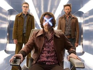 Hugh Jackman, Nicholas Hoult, James McAvoy in X-Men: Days of Future Past