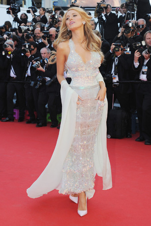 CANNES, FRANCE - MAY 15: Blake Lively attends the 'Mr Turner' premiere during the 67th Annual Cannes Film Festival on May 15, 2014 in Cannes, France. (Photo by Traverso/L'Oreal/Getty Images)