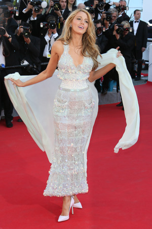 CANNES, FRANCE - MAY 15: Blake Lively attends the 'Mr Turner' Premiere at the 67th Annual Cannes Film Festival on May 15, 2014 in Cannes, France. (Photo by Tony Barson/FilmMagic)