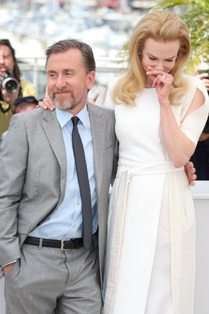 CANNES, FRANCE - MAY 14: Nicole Kidman and Tim Roth attend the 'Grace of Monaco' photocall at the 67th Annual Cannes Film Festival on May 14, 2014 in Cannes, France. (Photo by Mike Marsland/WireImage)