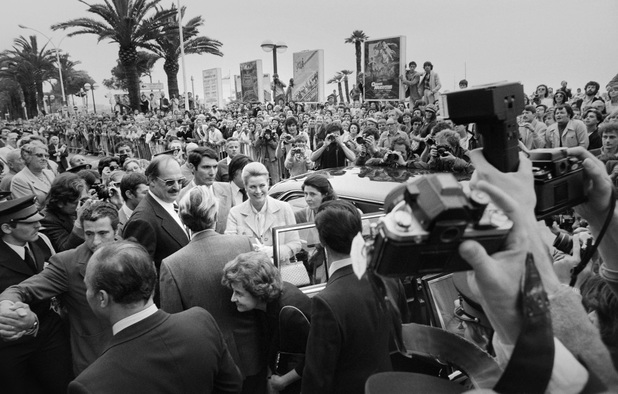 Princess Grace of Monaco faces cameras while she arrives to attend at the 33rd Cannes Film Festival, on May 15, 1980 in Cannes, the tribute to Alfred Hitchcock. AFP PHOTO RAPH GATTI (Photo credit should read RALPH GATTI/AFP/Getty Images)