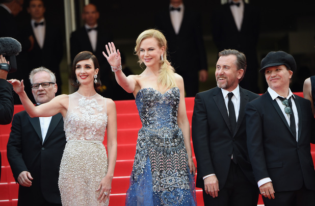 CANNES, FRANCE - MAY 14: (L-R) Actresses Paz Vega, Nicole Kidman, actor Tim Roth and director Olivier Dahan attend the Opening Ceremony and the 'Grace of Monaco' premiere during the 67th Annual Cannes Film Festival on May 14, 2014 in Cannes, France. (Photo by Venturelli/WireImage)