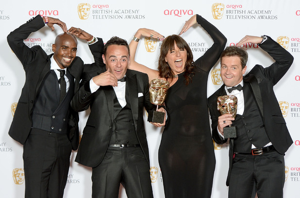BAFTA Television awards 2014: Davina McCall, Mo Farah, Ant and Dec