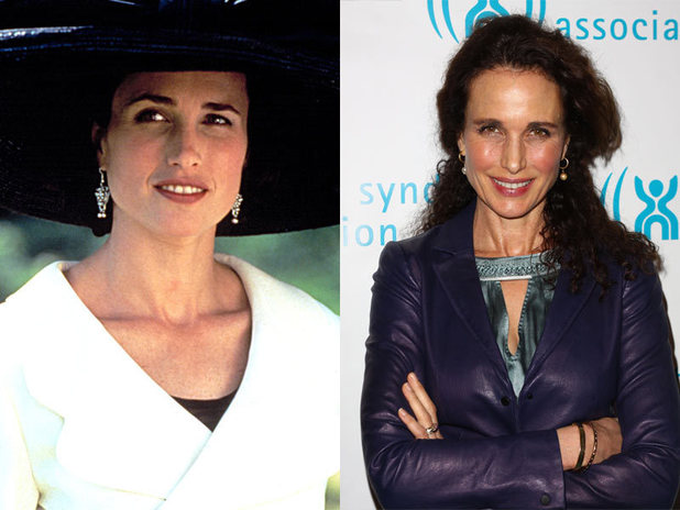 The cast of Four Weddings and a Funeral then and now: Andie MacDowell