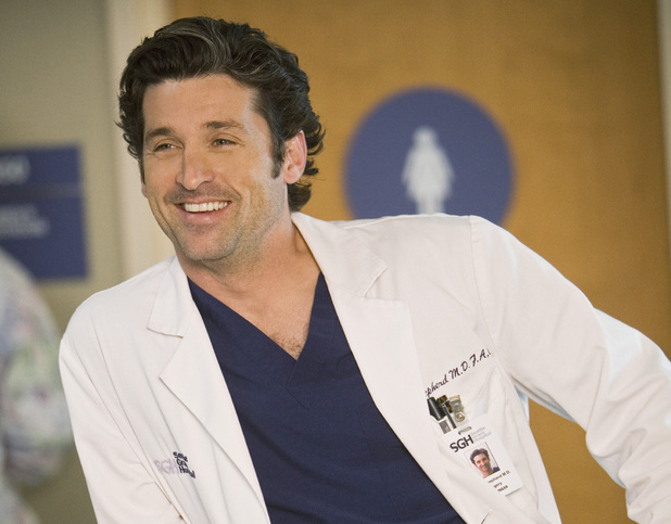 Patrick Dempsey as Derek Shepherd in Grey's Anatomy