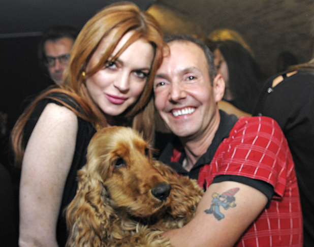 Lindsay Lohan poses backstage with G-A-Y owner Jeremy Joseph ahead of watch... Rita Ora performance