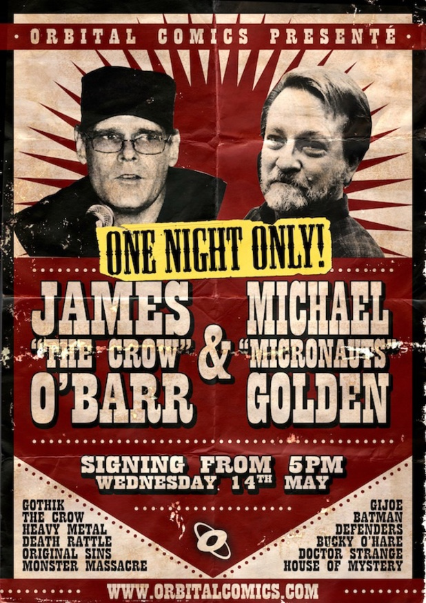 James O'Barr, Michael Golden signing poster