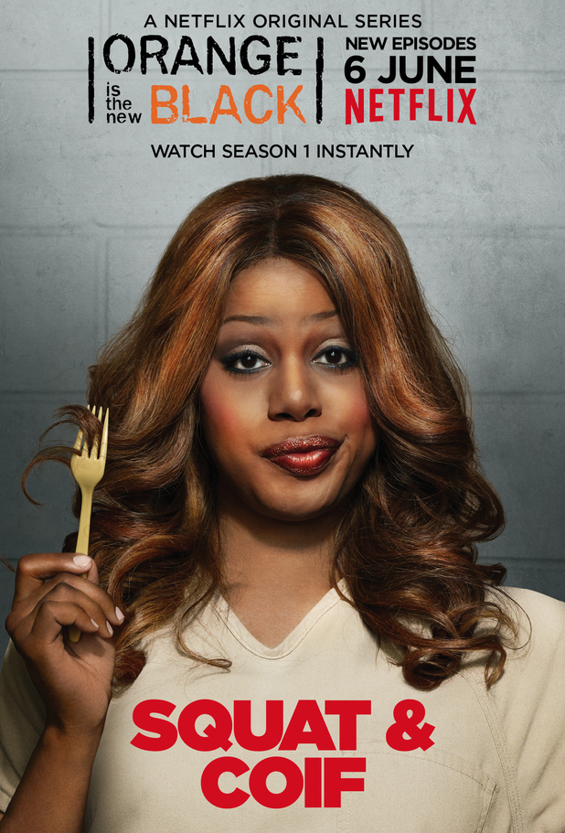 Laverne Cox as Sophia in Orange Is the New Black season two character poster