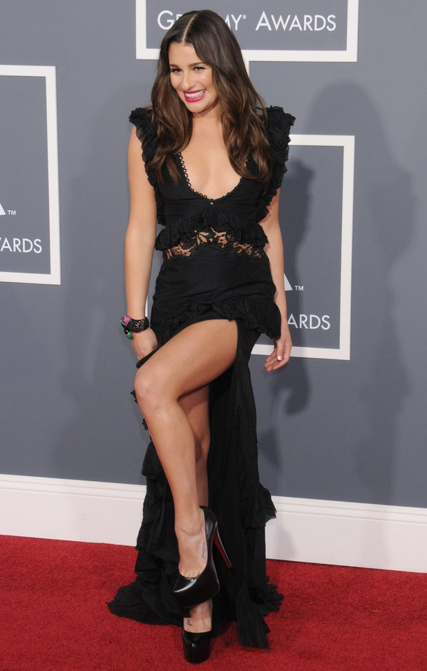 LOS ANGELES, CA - FEBRUARY 13: Lea Michele arrives for the 53rd Annual GRAMMY Awards at the Staples Center, February 13, 2011 in Los Angeles, California. (Photo by Gregg DeGuire/FilmMagic)