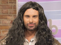 Take a look at Rylan Clark's rather delayed Conchita Wurst impression.