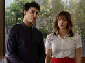 Elyes Gabel as Walter O'Brien and Katharine McPhee as Paige Dineen in Scorpion