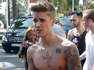 CANNES, FRANCE - MAY 20: Justin Bieber strolling on the croisette on day 7 of the 67th Annual Cannes Film Festival on May 20, 2014 in Cannes, France. (Photo by Pierre Suu/GC Images)