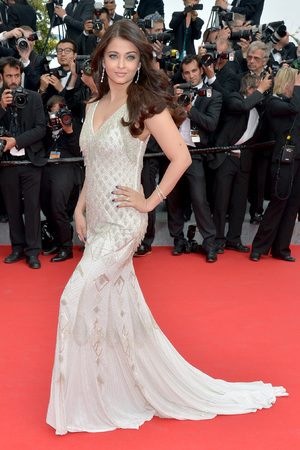 CANNES, FRANCE - MAY 21: Aishwarya Rai attends 'The Search' premiere during the 67th Annual Cannes Film Festival on May 21, 2014 in Cannes, France. (Photo by Michael Buckner/Getty Images)