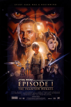 Drew Struzan's poster for Star Wars Episode I: The Phantom Menace