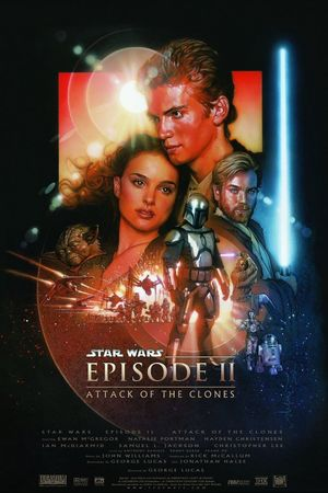 Drew Struzan's poster for Star Wars Episode II: Attack of The Clones
