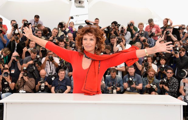 CANNES, FRANCE - MAY 21: Sophia Loren attends a photocall to present Cannes Classics at the 67th Annual Cannes Film Festival on May 21, 2014 in Cannes, France. (Photo by Pascal Le Segretain/Getty Images)