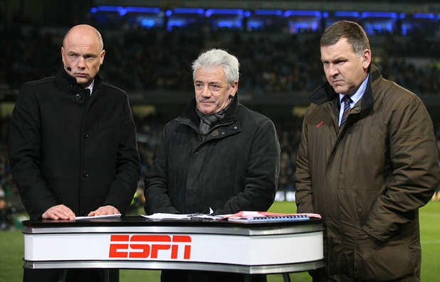 ESPN's Uwe Rosler, Kevin Keegan and Ray Stubbs