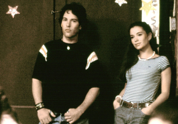 Paul Rudd and Marguerite Moreau in Wet Hot American Summer