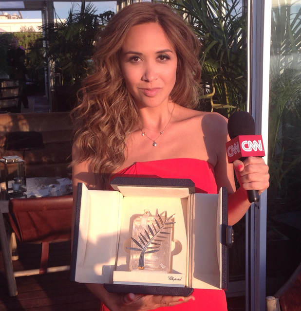Myleene Klass with the Cannes Palm d'Or